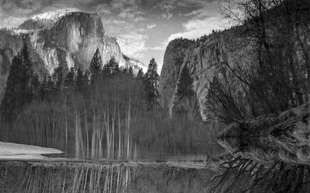 Yosemite Reflection 2 BW by Moises Levy art print
