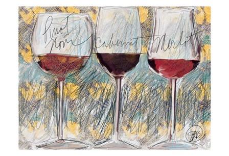 Wine 3 by Sarah Butcher art print