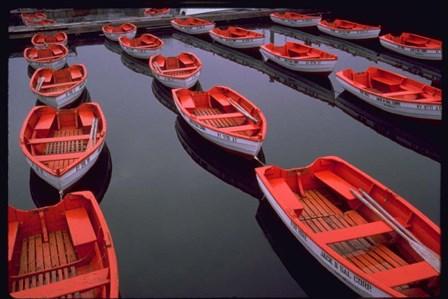 City Island Red Row Boats by Robert Goldwitz art print