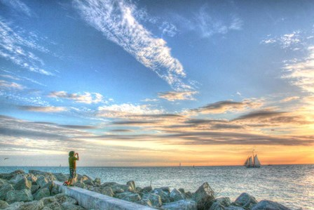 Key West Lone Figure Sunset by Robert Goldwitz art print