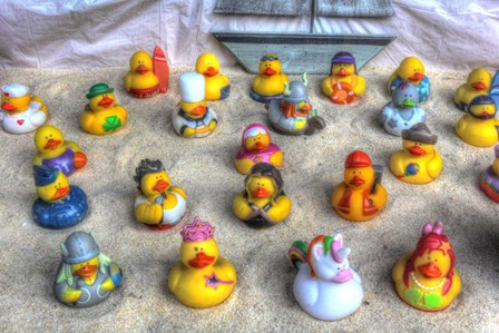 Rubber Duckies by Robert Goldwitz art print