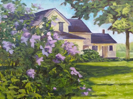 Lilac Bush by Rusty Frentner art print