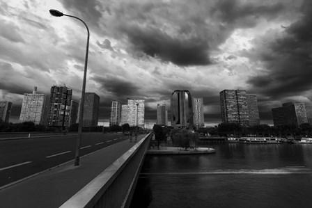 Pont Mirabeau Storm by Sebastien Lory art print