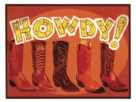 Howdy Boots by Tim Wright art print