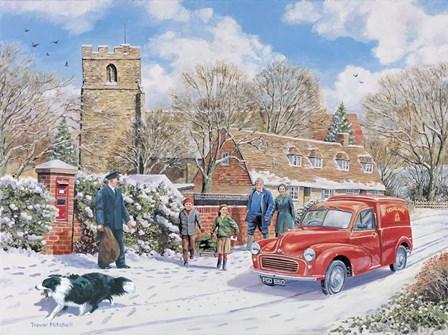 Christmas Post by Trevor Mitchell art print
