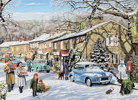 Home For Christmas by Trevor Mitchell art print