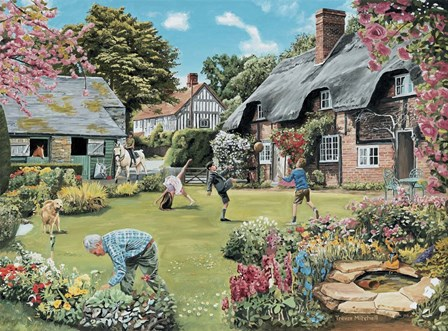 A Cottage Garden by Trevor Mitchell art print
