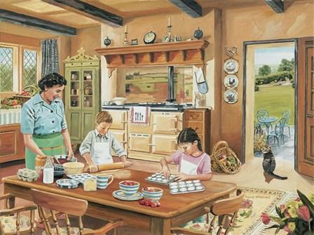 A Cottage Kitchen by Trevor Mitchell art print