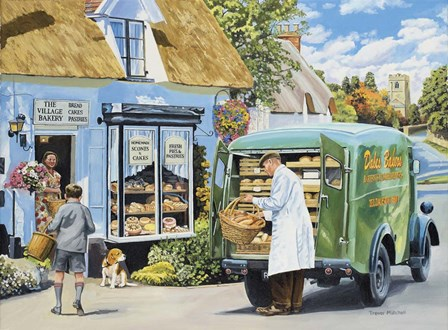 The Village Bakery by Trevor Mitchell art print