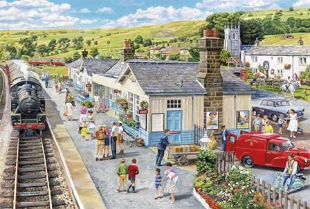 The Village Station by Trevor Mitchell art print