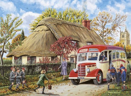 Autumn Term by Trevor Mitchell art print