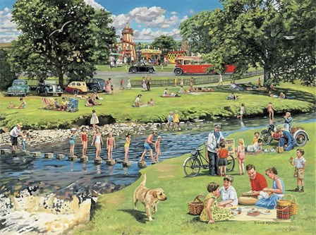 At The Picnic Spot by Trevor Mitchell art print