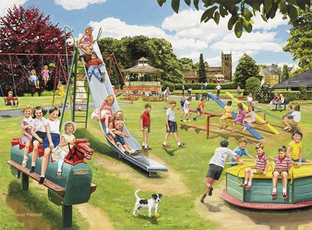 The Park Playground by Trevor Mitchell art print