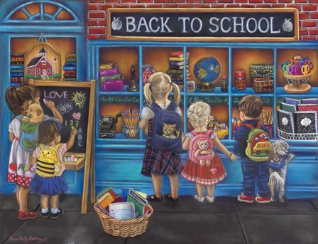 Back to School by Tricia Reilly-Matthews art print