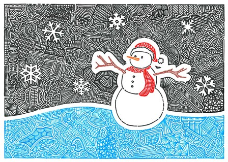 Let It Snow by Viz Art Ink art print
