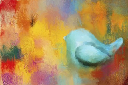 Abstract Bluebird of Happiness by Jai Johnson art print