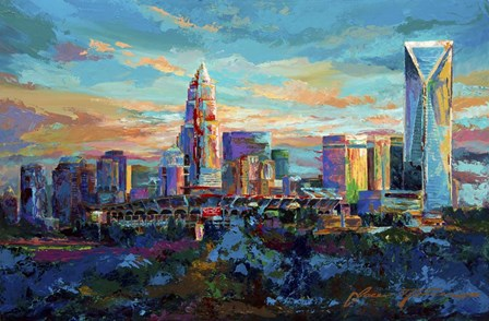 The Queen City Charlotte North Carolina by Jace D. McTier art print