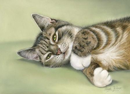 Green Eyes by Janet Pidoux art print