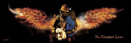 No Greater Love Fireman Rescue by Jason Bullard art print