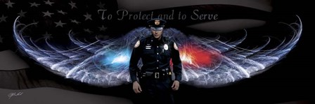 No Greater Love Police To Protect And To Serve by Jason Bullard art print