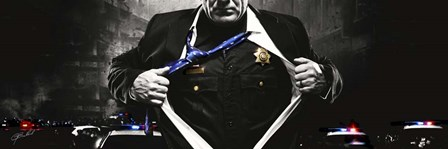Police Hero by Jason Bullard art print