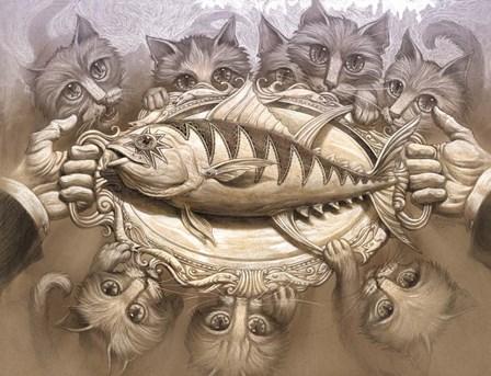 Tuna On A Silver Platter by Jeff Haynie art print