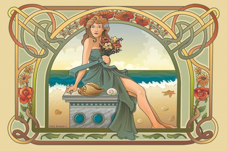 Summer Nouveau by Julie Goonan art print