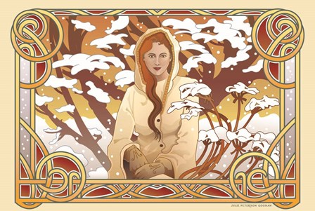 Winter Nouveau by Julie Goonan art print
