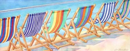 Beach Chairs by Julie Goonan art print