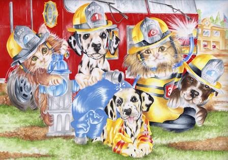 Fire Flurries by Karen Middleton art print