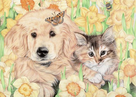 Two's Company by Karen Middleton art print