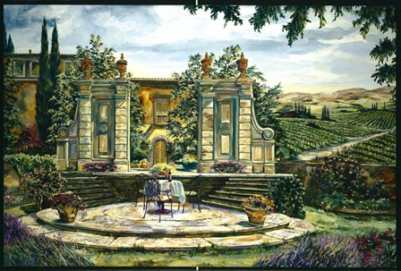 Lavender And Wine by Karen Stene art print