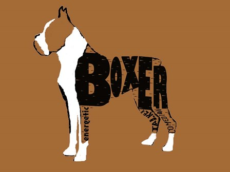 Boxer Word 2 by Karen J. Williams art print