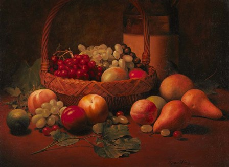 Fruit Basket Still LIfe by Kevin Spaulding art print