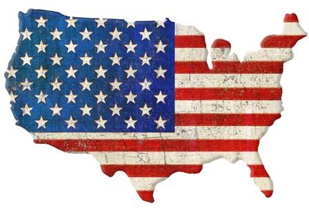 American Cut Out by Art Licensing Studio art print