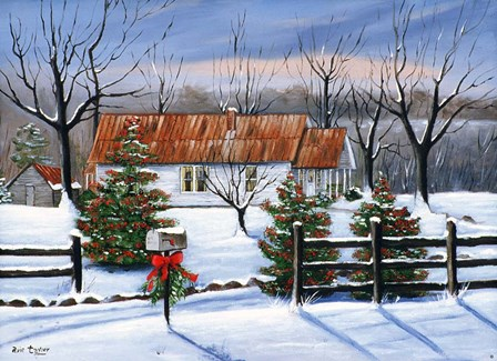 Mom and Dad's at Christmas by Arie Reinhardt Taylor art print
