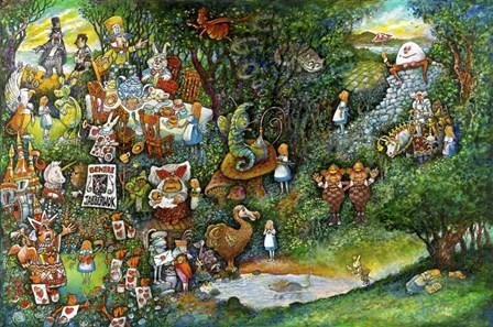 Alice in Wonderland by Bill Bell art print