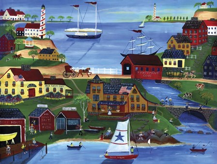 Fishermans Cove by Cheryl Bartley art print
