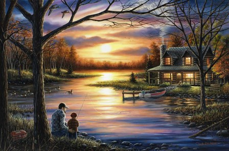 Father and Son by Chuck Black art print