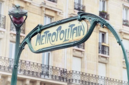 Art Nouveau Entrance of the Paris Metro by Cora Niele art print