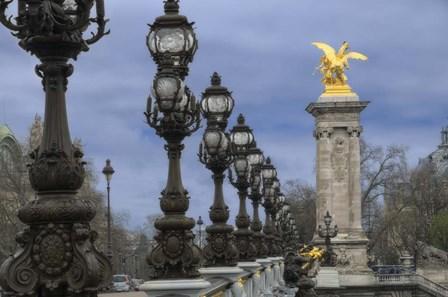 Art Nouveau Lamps Posts on Pont Alexandre III - I by Cora Niele art print