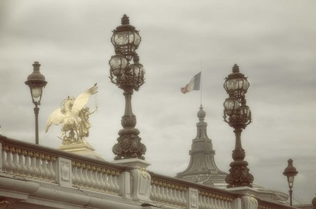 Art Nouveau Lamps Posts on Pont Alexandre III - III by Cora Niele art print
