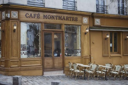 Cafe Montmartre by Cora Niele art print