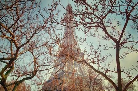 Eiffel Tower Vintage by Cora Niele art print