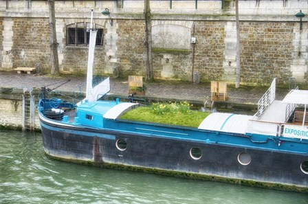 Garden Boat In The Seine River by Cora Niele art print