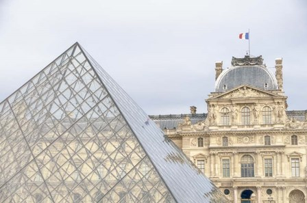 Louvre Palace And Pyramid II by Cora Niele art print