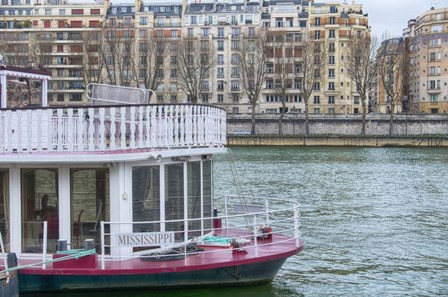 Mississippi Boat On The Seine by Cora Niele art print