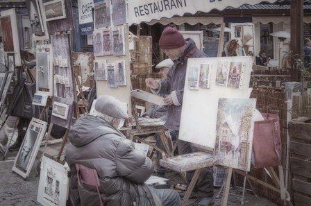 Monmartre Artist Working On Place du Tertre I by Cora Niele art print