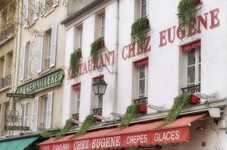 Monmartre Restaurant by Cora Niele art print