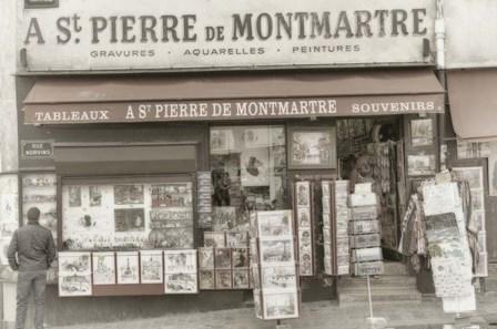 Monmartre Shop 1 by Cora Niele art print